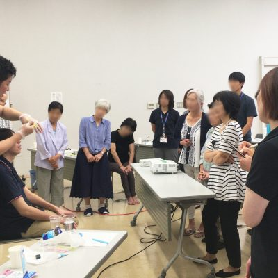 【活動報告】9/2熊本県合志市「家族介護教室」にて口腔ケアセミナーを行いました